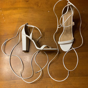 Charlotte Russe Lace Up Open Toe Heels Nvr Worn